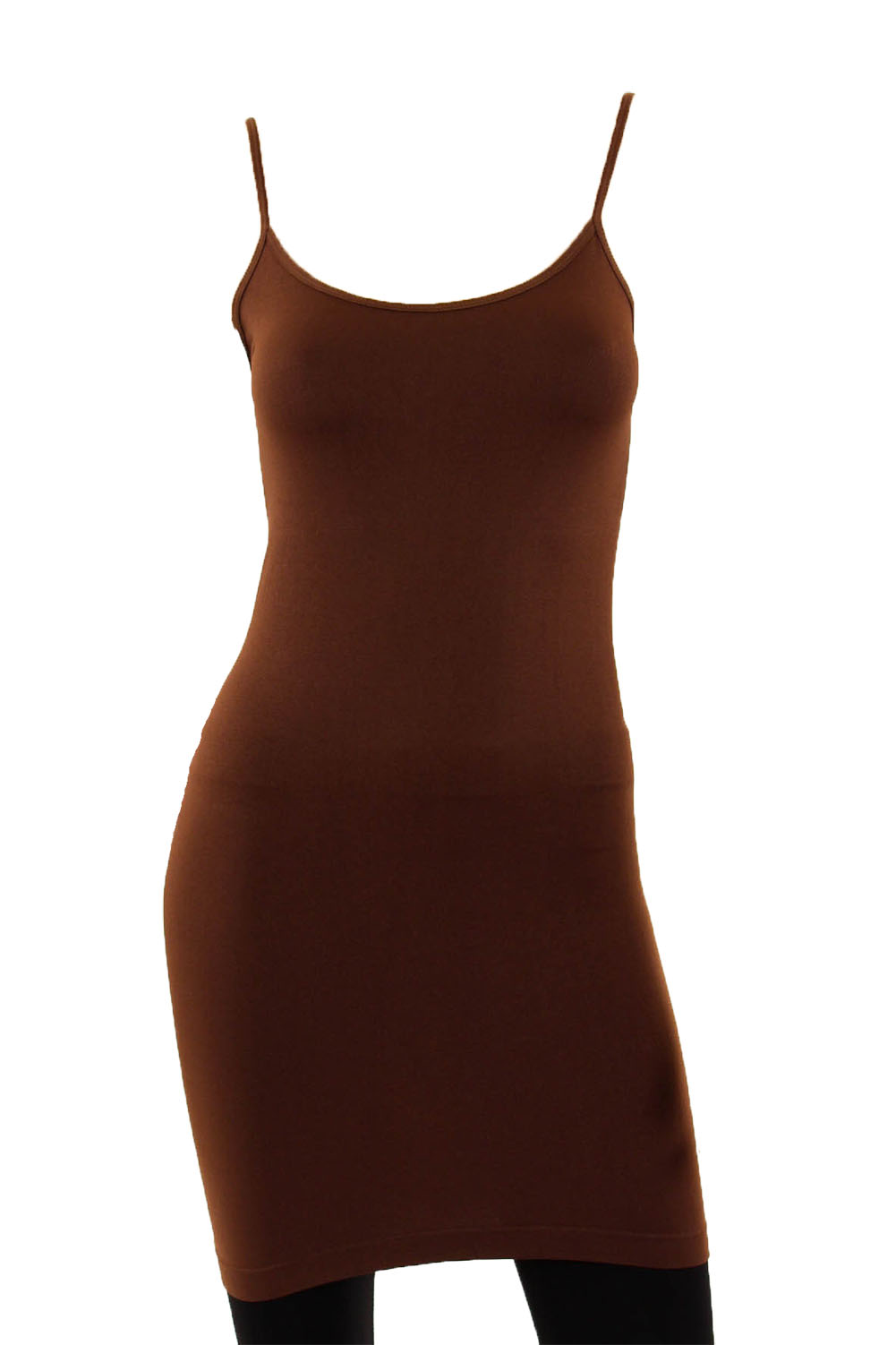 Musa Women's Extra Long Spaghetti Strap Stretch Camisole Tank Top