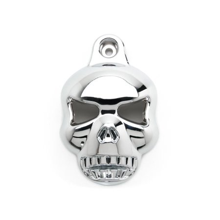 Chrome Skull Head Horn Cover Stock Cowbell Horns For Harley Davidson XL 883 Hugger Sportster - image 3 of 5