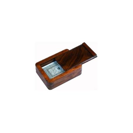 - The Single Plastic Playing Cards Set w Solid Wood Case