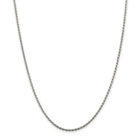 Sterling Silver 1.85mm Diamond-cut Rope Chain QDC030