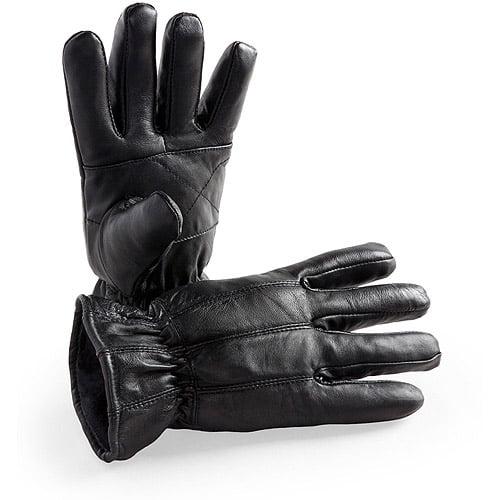 Hands On Genuine Sheepskin Leather Glove  Fleece Lined, Easy Slipon Style.