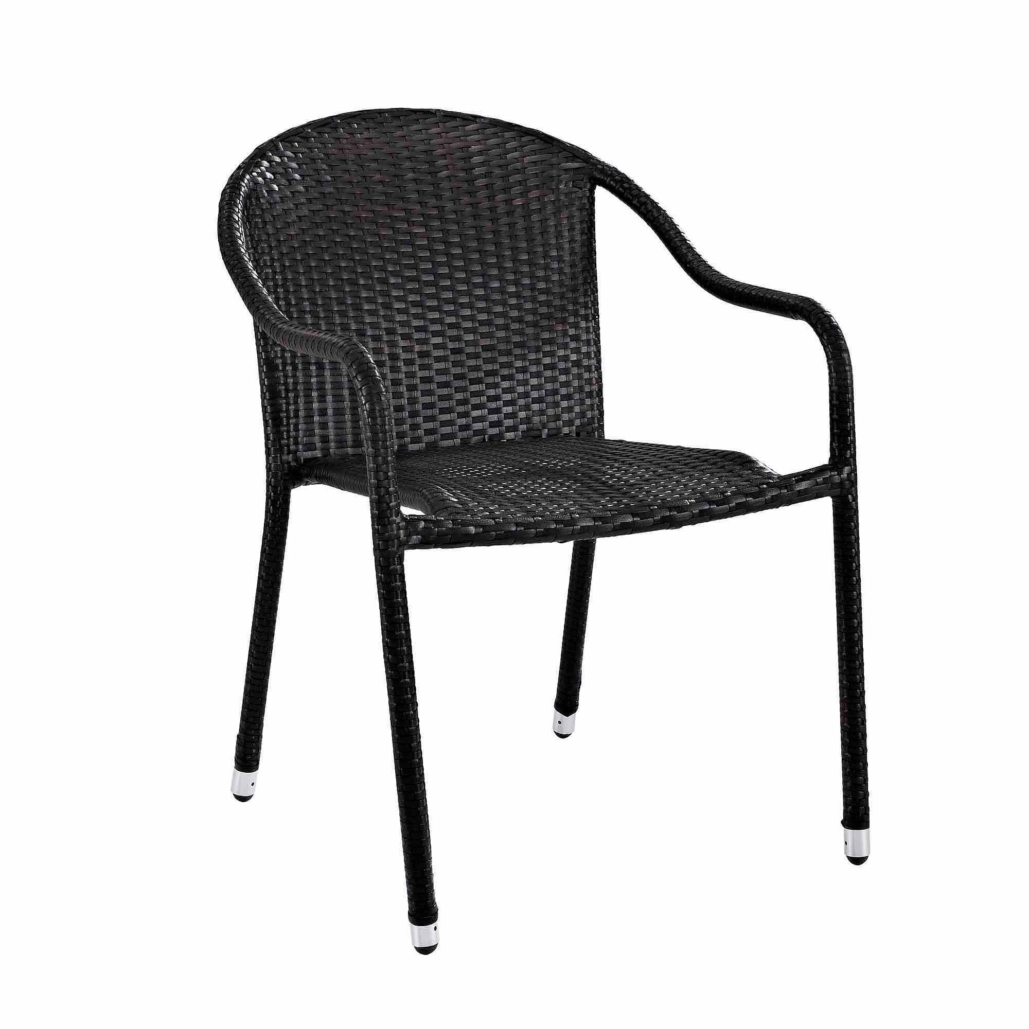 crosley furniture palm harbor outdoor wicker stackable chairs 4pk walmartcom