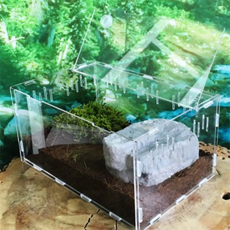 Meigar Turtle Tank Reptile Top Habitat Filter Kit Aquatic Large Acrylic Breeding Cage Special Offer