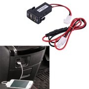 Twin Dual Port 2 USB 12-24V Car Auto Lighter Socket Charger Adapter for TOYOTA  MZ