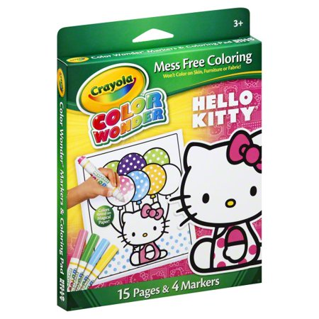 Crayola Color Wonder Hello Kitty Markers And Coloring Pad, 1 Set - Hello Kitty Halloween Coloring