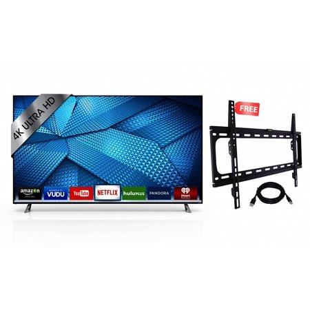 Vizio M65 C1 65 Inch 4K Ultra Hd Smart Led Tv  2015 Model   Refurbished  With Brand New Koramzi Wallmounts Kwm988f  Black