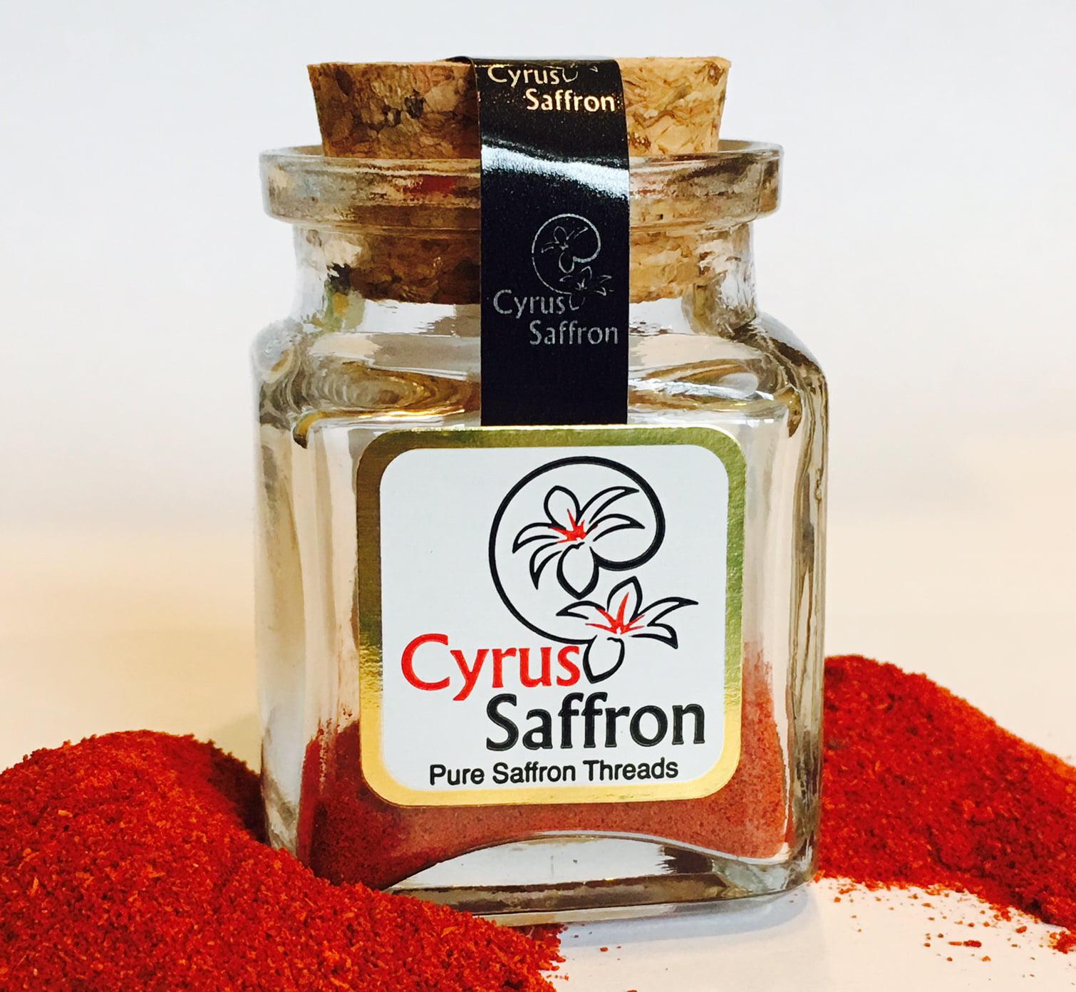 Cyrus Saffron Powder, 100% Pure 22 Karat Saffron Powdered Sargol Powdered (5 Gram) by