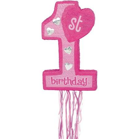 Pink 1st Birthday Pinata for $<!---->