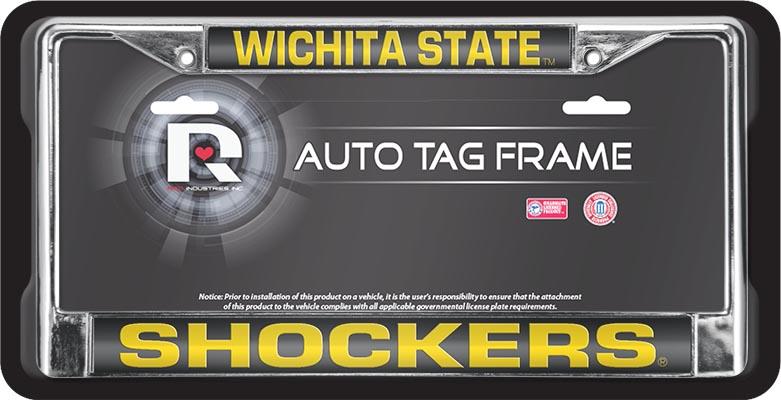 Multicolor One Size Rico NCAA Wichita State Black Chrome Frame Sports Fan Automotive Accessories