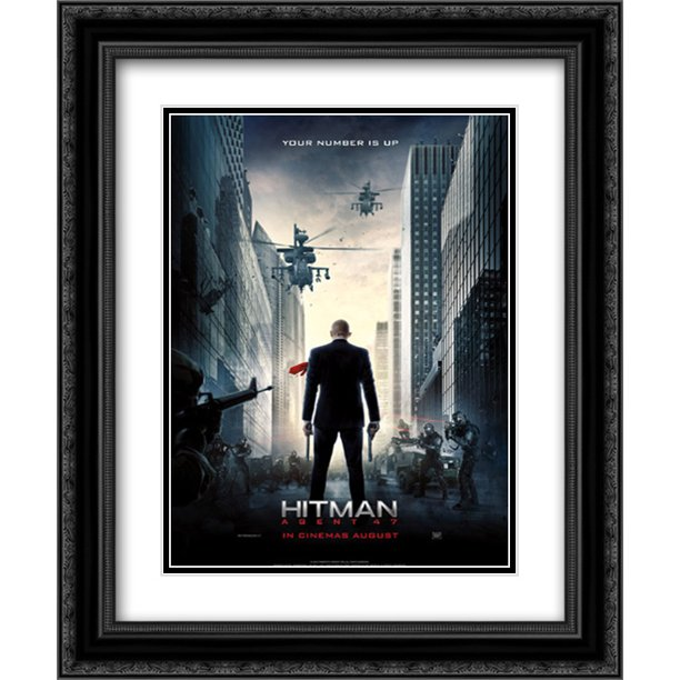 Hitman Agent 47 20x24 Double Matted Black Ornate Framed Movie