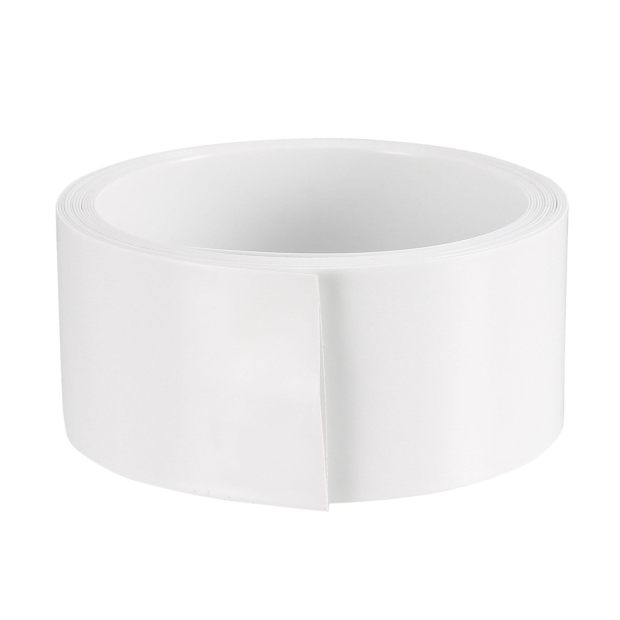 PVC Heat Shrink Tube 23mm Flat Width for AA 2 Meters Length White