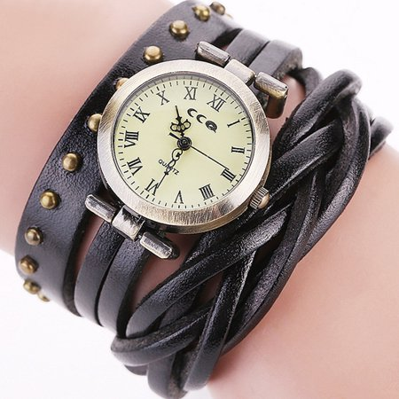 Nigella Multi-Band Vegan Leather Wrap Watch