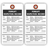 FORKLIFT INSPECTION RECORD Tags, 2 Sided, 5.75