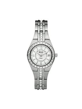 Women's Queen's Court Quartz Stainless Steel Dress Watch, Color: Silver-Tone (Model: ZR11788)