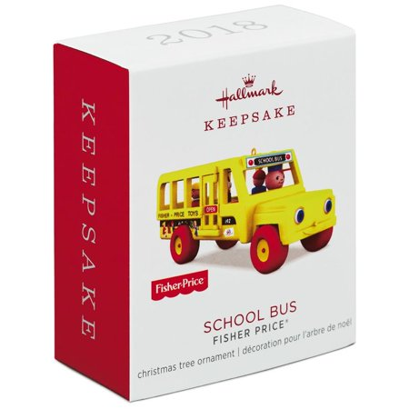 Hallmark Keepsake 2018 Mini Fisher-Price™ School Bus Ornament, 0.46