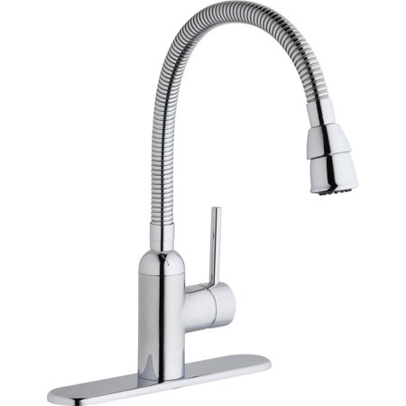 Elkay LK2500CR Pursuit Flexible Spout Laundry/Utility Single-Hole Faucet, Chrome ()