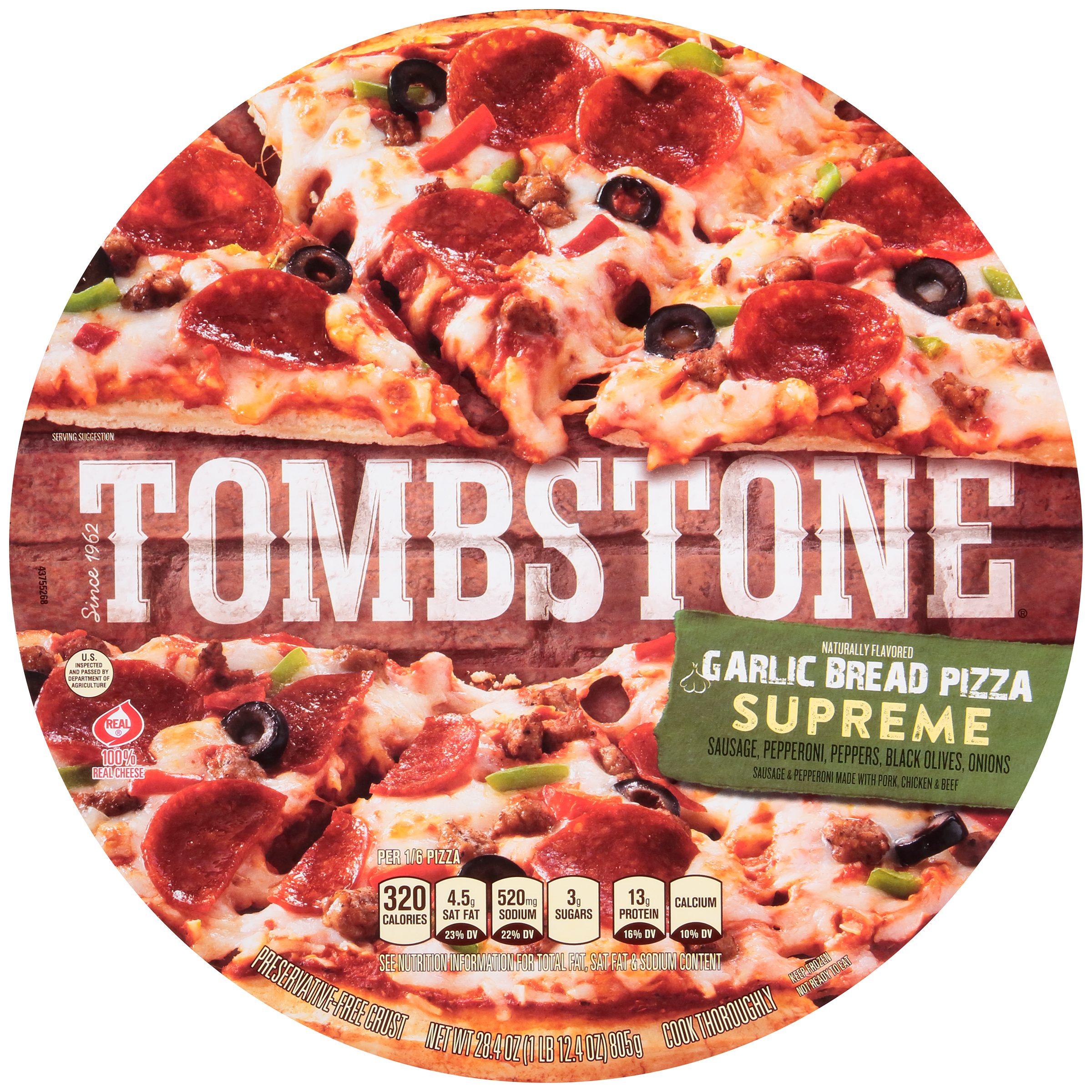 TOMBSTONE Garlic Bread Supreme Pizza 28.4 oz.