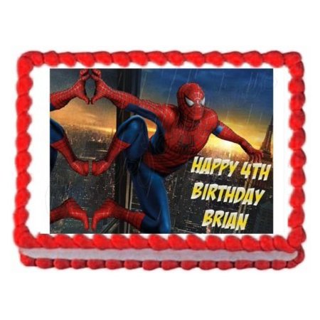 SPIDERMAN Party Edible Cake Decoration Image Topper Frosting Sheet