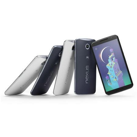 Motorola Nexus 6 XT1103 Google GSM Unlocked 32GB Smartphone-Blue (Pre-Owned in Excellent Condition) (Google Nexus 6 Us Cellular)
