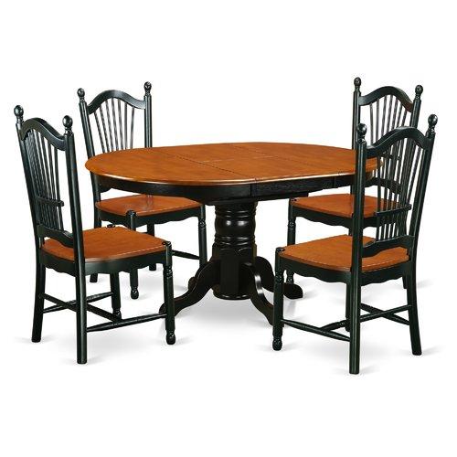 East West Furniture Avon 5 Piece Dining Set