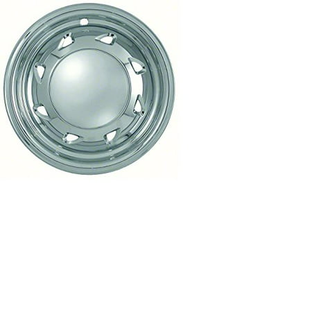 Set of 4 Chrome Wheel Skin Hubcaps w Center For Chevy S10 (1994 - 2004),