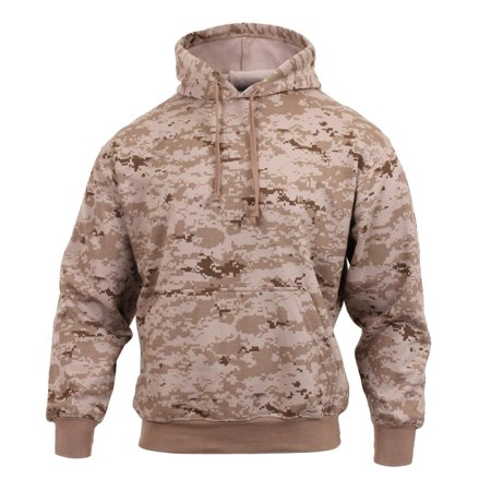 Rothco Fleece-Lined Camouflaged Pullover Hooded Sweatshirt