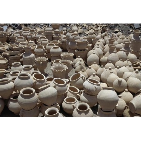 Handcrafted Terracotta Pottery, Manama, Bahrain Print Wall Art (Handcrafted Pottery)