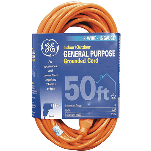 GE Indoor/Outdoor Extension Cord, 50'