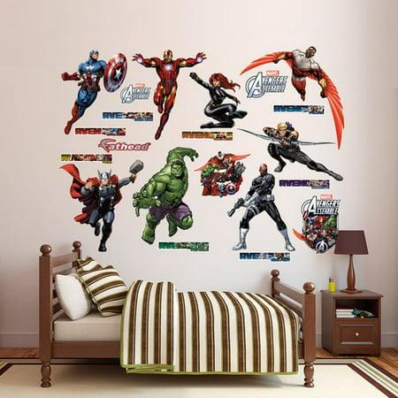 fathead avengers assemble collection. Black Bedroom Furniture Sets. Home Design Ideas
