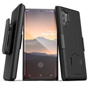 Encased Galaxy Note 10 Plus Belt Clip Case (2019 DuraClip) Ultra Slim Cover with Holster for Samsung Note 10+ Phone - Black