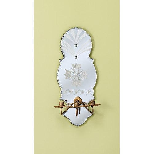 Venetian Gems Luna Tres Venetian Mirror Interior 3 Light Wall Sconce ...