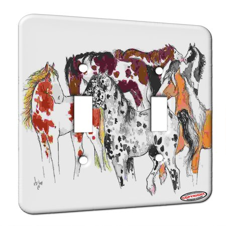 KuzmarK Double Gang Switch Wall Plate Don t Mess with the Boss Mare Ap