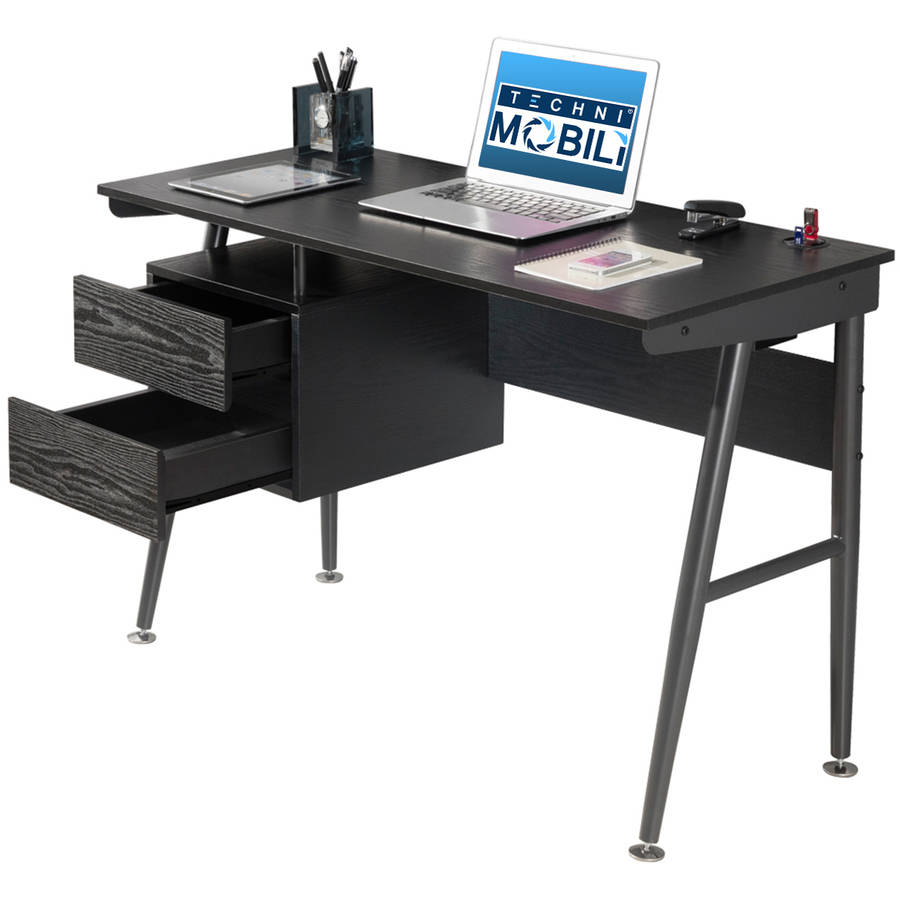 techni mobili hasley student desk with 3port usb and storage