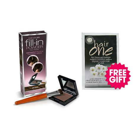 Cover Your Gray Fill-In Powder - Dark Brown w/BONUS Almond Oil Hair Cleanser