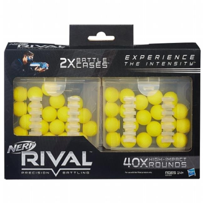 Hasbro HSBB3483 Nerf-Rival 40 Round Battle Cases, Pack of 6