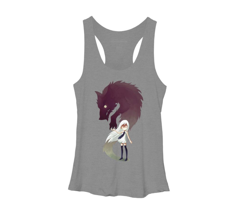 Racerback Dress Element Mystical Wolf Dress Jewel Color Dress Custom Made Racerback