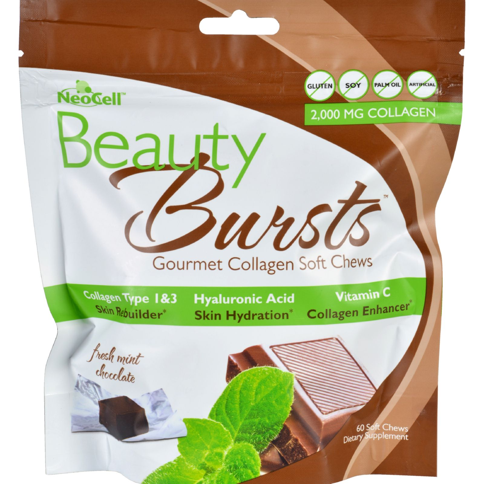 NeoCell Laboratories Beauty Burst - Chocolate Mint - 60 c...