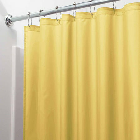 InterDesign Waterproof Fabric Shower Curtain Liner Standard 72 X Yellow