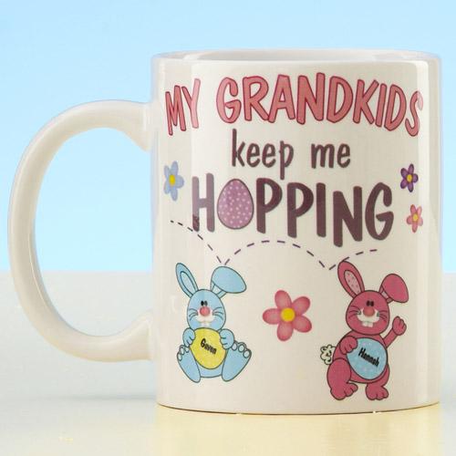"""Personalized """"Keep Me Hopping"""" Mug"""