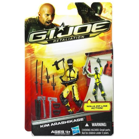 G.I. Joe Retaliation Kim Arashikage Figure 3.75 InchPose these articulated 3.75 action figures for battle By G I Joe (Party City Joe Battle)