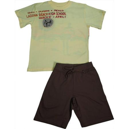 ab4481685 MISH MISH - Mish Mish Toddler & Little Boys Cotton Short Sleeve Short Sets  SZ 2T - 7, 17827 Maize Olive Laguna Beach / 7 - Walmart.com