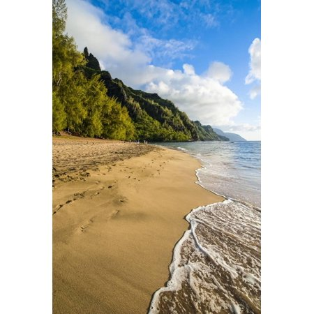 Kee Beach on the Napali Coast, Kauai, Hawaii, United States of America, Pacific Print Wall Art By Michael Runkel ()