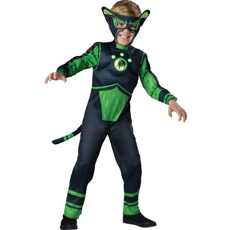 Wild Kratts Green Panther Creature Costume Muscle Chest Boys Child Costume - Panther Kids