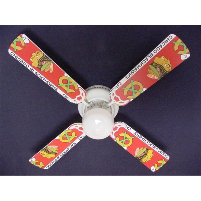 Ceiling Fan Designers 42FAN-NHL-CHI New NHL CHICAGO BLACKHAWKS HOCKEY Ceiling Fan 42''