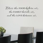 Belvedere Designs LLC Bless Food Family Love Wall Quotes  Decal