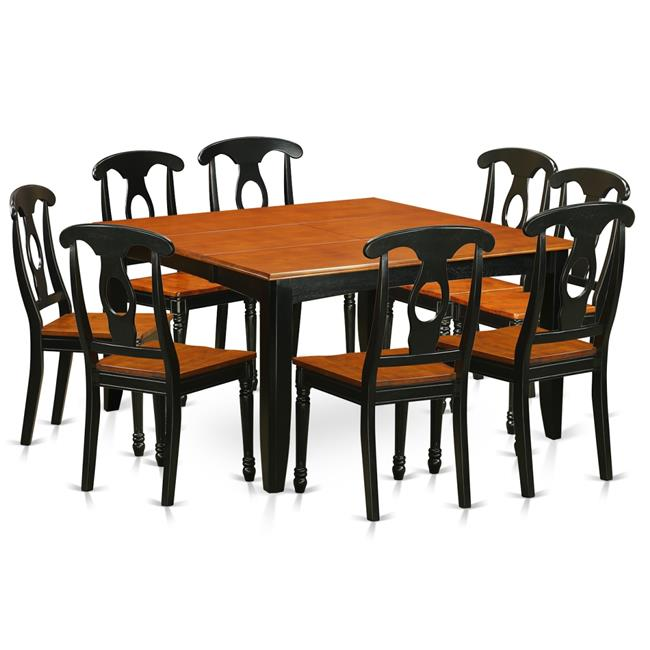 Wood Seat Dining Room Table Set - Table & 8 Wooden Chairs ...