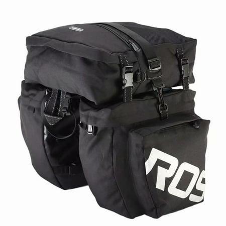 Waterproof Pannier - ROSWHEEL 3-in-1 Waterproof Bicycle Cycling Pannier Bag Gear Pack Black