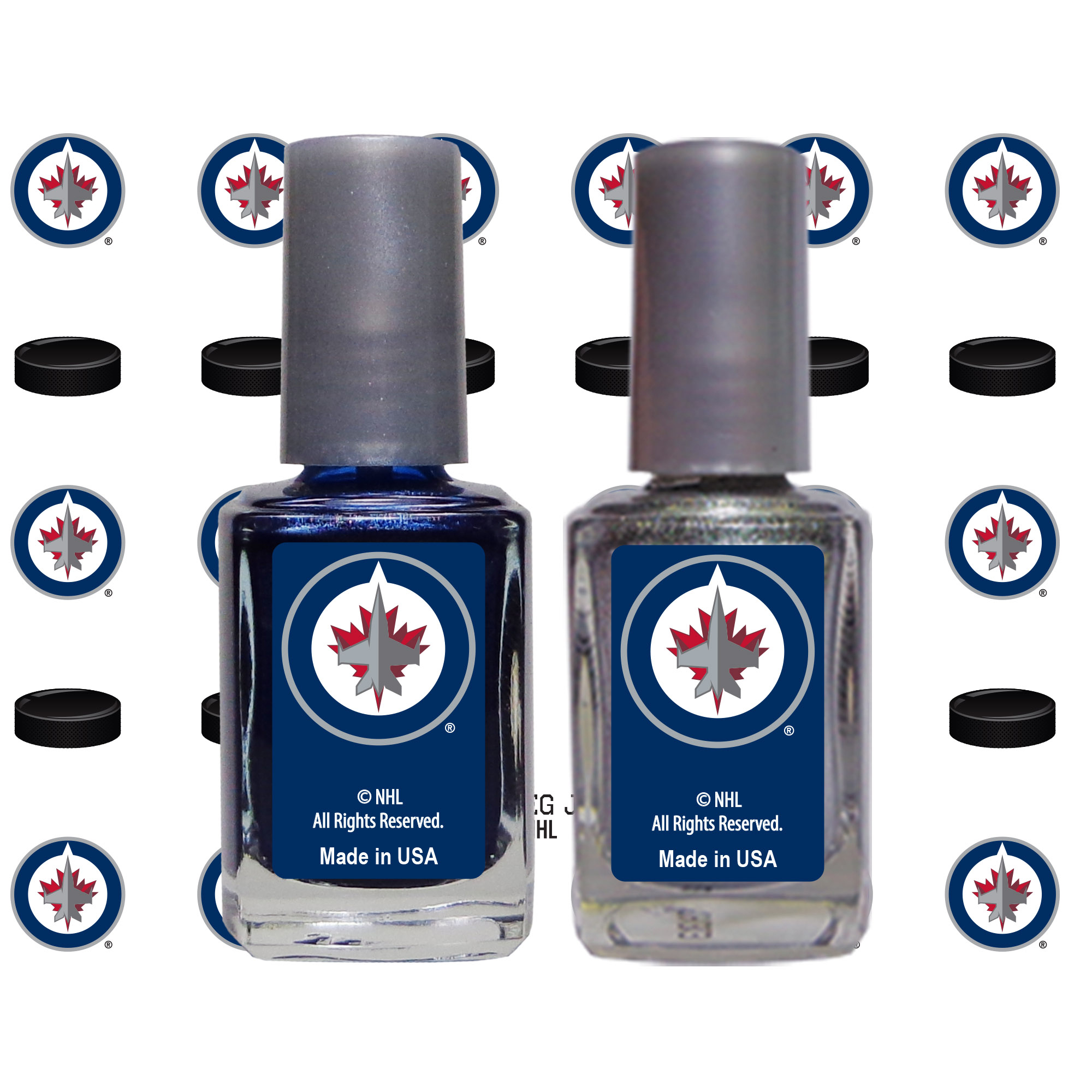 Winnipeg Jets 2-Pack Nail Polish with Nail Decal - No Size