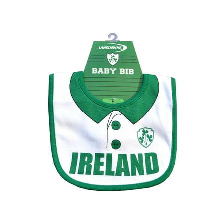 White Ireland Rugby Shirt Bib