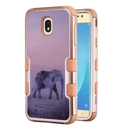 huge discount 5f335 41746 3-Layer Case for Samsung Galaxy J7 Crown / J7 aura / J7 Star / J7 Refine /  J7 (2018), OneToughShield ® Hybrid Shockproof Protector Phone Case (Rose ...